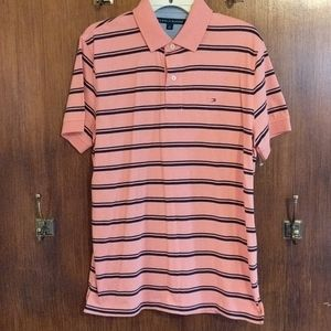 M Tommy Hilfiger Men's SS Stripe Polo Shirt